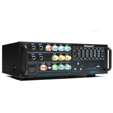 Qinxwz KA-639 Professional Home Audio 1200 Watt Stereo Power Amplifier Support USB SD Card