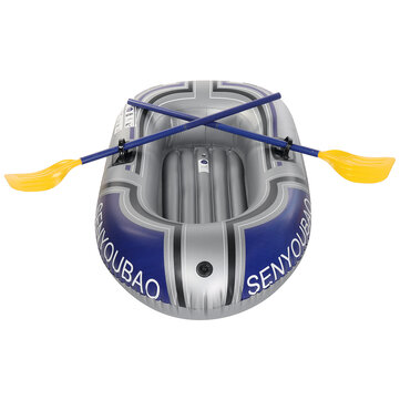 Singel Person PVC Inflatable Boat Dinghy Fishing Rowing Boat For Drifting Sufing With Aluminum Oars and Air Pump