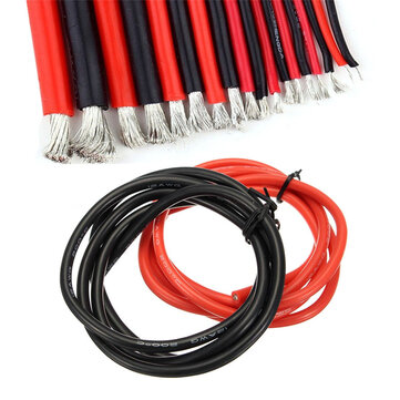 1M 8/10/12/14/16/18/20/22/24/26 AWG Silicone Wire SR Wire