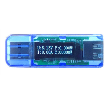 RD OLED USB2.0 QC2.0 3-bit Tester Voltage Current Power Capacity Detector