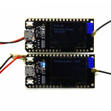 2 पीएलसी LILYGO TTGO LORA32 868Mhz ESP32 लोरा OLED OLED 0.96 इंच ब्लू डिस्प्ले ब्लूटूथ वाईफ़ाई ESP-32 डेवलपमेंट बोर्ड एंटीना के स