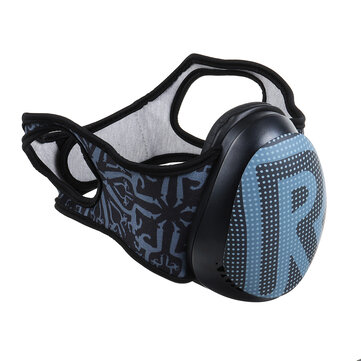 3D PC Anti Fog Haze Dust Face Mask Memory Foam Protein Leather Material 2 Colors