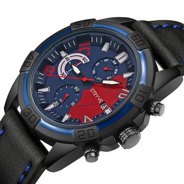 STRYVE S1001 Fashion Chrono Time Date Display Stopwatch Men Sport Quartz Watch