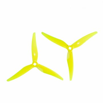 2 Pairs GEMFAN Hurricane Durable 3-Blade SL 5125 5Inch Propeller Compatible with T-Mount Shaft Motors