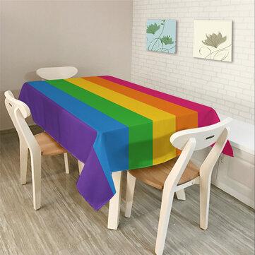 Khăn trải bàn hình chữ nhật đơn giản hiện đại Đầy màu sắc Hình học tam giác
