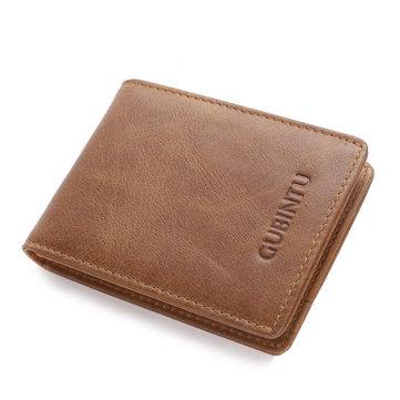Folding Men Wallets RFID Anti-theft Credit Card Leather Wallet Holder Purse