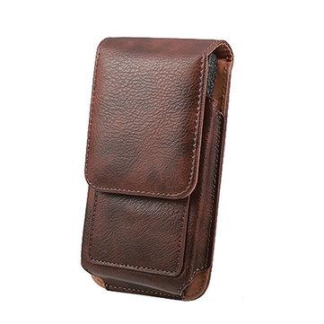Man Business PU Phone Wallet Card Bag Wallet Purse Dual Use Waist Bag