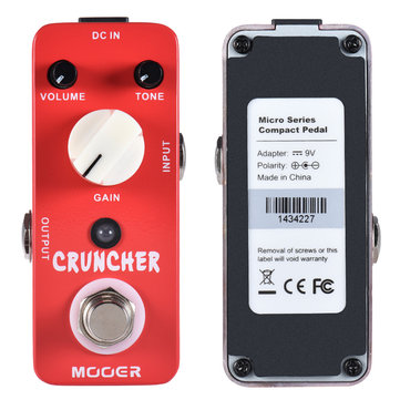 MOOER MDS3 Micro Mini Cruncher High Gain Distortion Guitar Effects Pedal