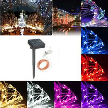 13M 120LED Solar Copper String Fairy Light Wedding Party Christmas Garden Outdoor Lamp IP67