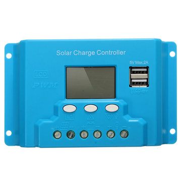 LCD Solar Panel Battery Regulator Charge Controller Dual USB 30A PWM Charging UK
