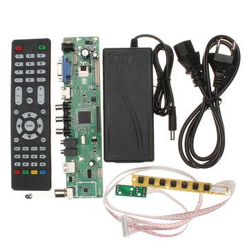 V56 Universal TV LCD PC / VGA / HD / USB Controller Driver Board + EU Adapter + Keyboard