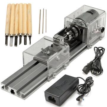 राइटूल® एलबी -01 मिनी खराद मोती मशीन लकड़ी काम कर रहे DIY खराद पॉलिश ड्रिल रोटरी उपकरण डीसी 24V
