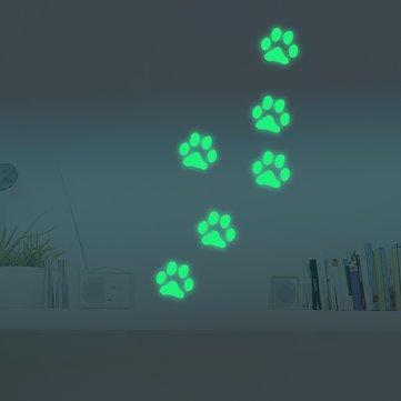 Honana DX-141 6PCS 8.5x8.5cm Fluorescente Glow Dog Pegatina Pegatina De Pared
