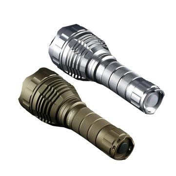 Sand Silver Color Convoy L2 XPL HI 1100LM 4Modes Tactical LED Flashlight with 2 Tubes