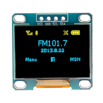 0,96 inch 4Pin Blue Yellow IIC I2C OLED Display Module voor Arduino