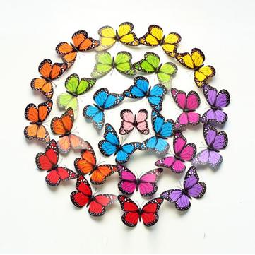 10Pcs 12cm 3D Colorful Butterfly Wall Sticker Fridge Magnet Home Decor Art Applique
