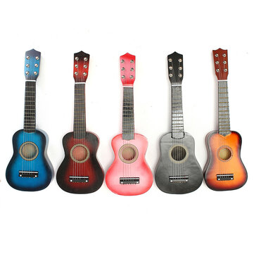 21'' Beginners Basswood Acoustic Guitar 6 String Practice Music Instruments