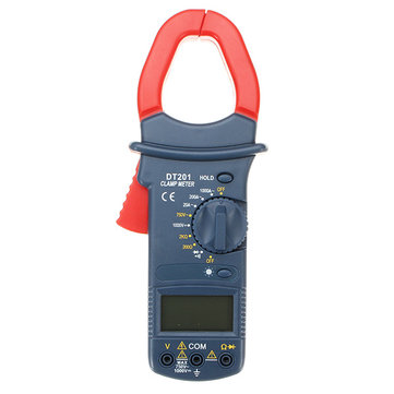 DT201 Digital Handheld Non Contact Multi Meters Clamp Meter 1000V Voltage Current Resistance Tester