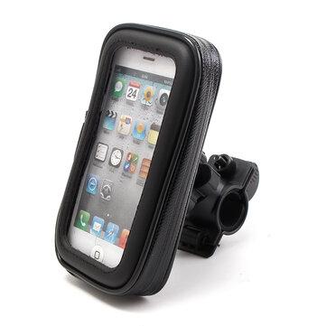 Cell Phone GPS Handlebar Mount Holder Waterproof Bag Case For Motorcycle Bike S/M/L/XL