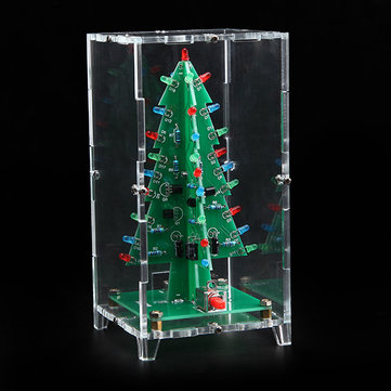 Geekcreit® Christmas Tree LED Flash Kit With Transparent Cover DIY Electronic Kit