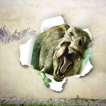 Decoración decorativa de la puerta de la pared del sitio casero desprendible del CLORURO DE POLIVINILO del dinosaurio de 3D de Miico creativo