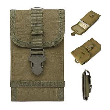 Universal 6 Inch Outdoor Sports Military Nylon Hook Belt Waterproof Phone Waist Bag For Smartphone