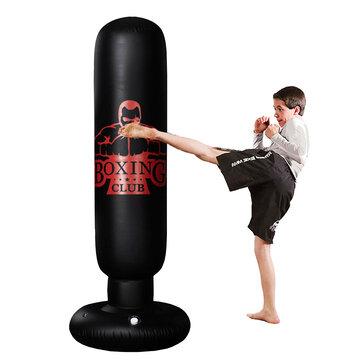 1.2//1.6M Punch Bag Inflatable Boxing Column Tumbler Sandbag Kick Martial Train