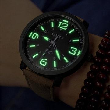 Đồng hồ đeo tay nam bằng da thể thao YAZOLE 319 dạ quang