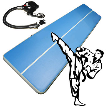 157x79x8inch Airtrack Gymnastics Mat Inflatable GYM Air Track Mat Gym Mat Tumbling Cheerleading Pad with Pump