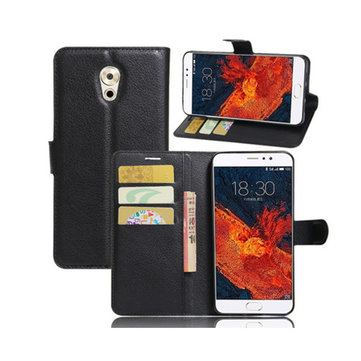 Litchi Flip Portafoglio Porta carte di credito Custodia in pelle PU per Meizu Pro 6 Plus Global Version