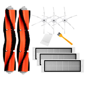 10PCS Main Side Brush Comb Filters Cleaning Tool for Xiaomi Roborock Xiaowa Robot Vacuum Cleaner