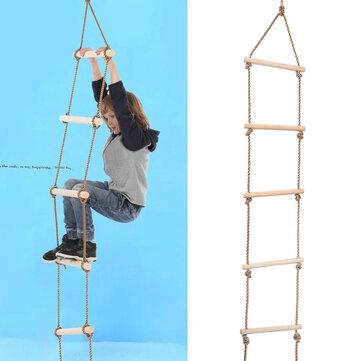 Kids Indoor al aire libre Playhouse Wooden 300Kg 5 peldaños Cuerda Escalada Escalada de juguete