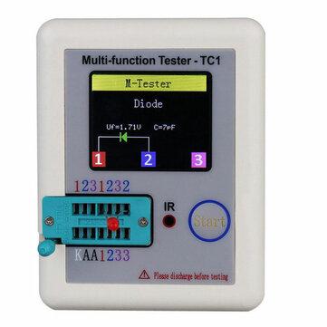 DANIU ™ LCR-TC1 3.5inch kleurrijk spektakel Multifunctionele TFT Backlight Transistor Tester voor Diode Transistor Capacitor Resistor Transistor LCR ESR NPN PNP MOSFET