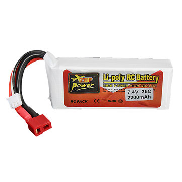 ZOP Power 7.4V 2200mAh 2S 35C Lipo Battery T Plug