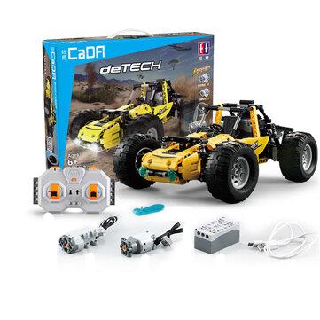 डबल CaDA रिमोट कंट्रोल ब्लॉक खिलौने सभी इलाके वाहन रेसिंग कार विधानसभा खिलौना मॉडल C51043W