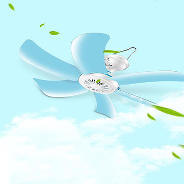 16inch Portable 6 Blades Mini Ceiling Fan Low Noise Hanging Cooler