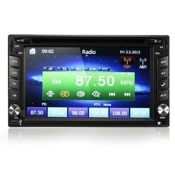 GPS Navigazione HD 2DIN 6,2 Pollici da Auto Macchina Lettore DVD Stereo Bluetooth iPod Lettore MP3 Telecamera