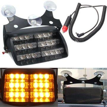 車18 LED黄色警告灯ストロボ緊急用ランプアンバートラックSUV