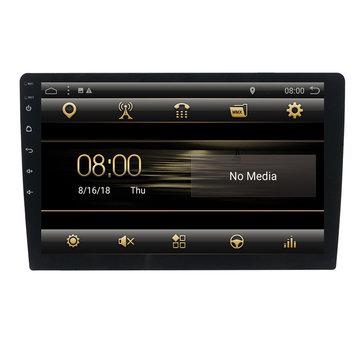T3 9 इंच 1 दीन कार स्टीरियो रेडियो एंड्रॉयड 8.1 क्वाड-कोर MP5 प्लेयर GPS ब्लूटूथ DAB + वाईफ़ाई 4G