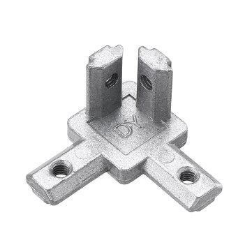 Suleve ™ CJ20 T Slot 3 voies 90 degrés à l'intérieur du support de joint de connecteur de coin pour profilé en aluminium de la série 2020