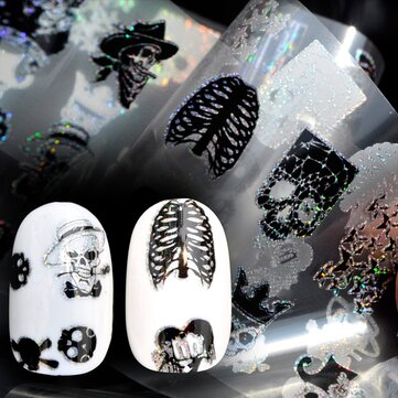 How can I buy Dancingnail Nail Sticker Halloween Skull Head Punk Style Zombie Design Decoration with Bitcoin