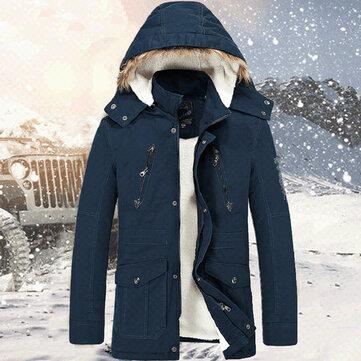 पुरुषों की मोटी शीतकालीन गर्म जैकेट हुड स्टैंड कॉलर गुणवत्ता जैकेट