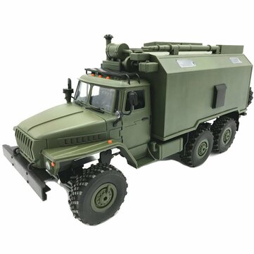 WPL B36 Ural 1/16 2.4G 6WD Rc Car Military Truck Rock Crawler Command Communication Vehicle RTR Toy COD