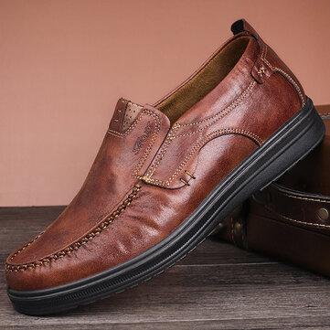 Men Large Size Comfy Casual Microfiber Leather Oxfords Shoes