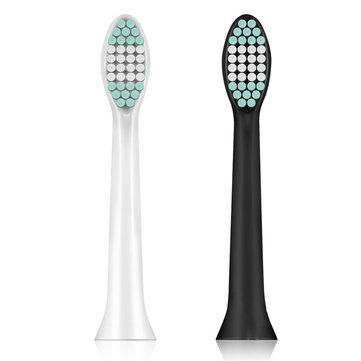 2 pezzi di spazzolino da denti per la testa di ricambio spazzolino elettrico ED8000 nero o bianco