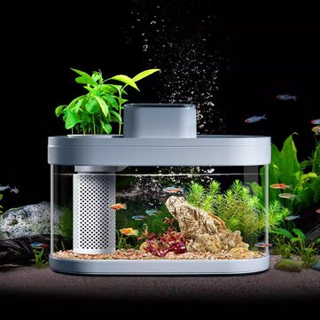 Geometry Fish Tank From Xiaomi Youpin Smart Feeder 7 Colors LED Light Self-Cleaning High Efficiency Filtration Mini Aquarium With App Control