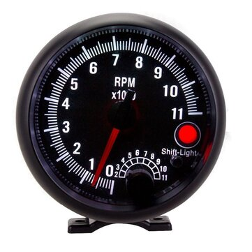 Car Tachometer Racing Instrument Modified Colorful Backlight 3.75 Inch 12V For 4/ 6/8 Cylinder Engine