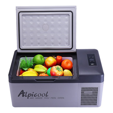 Alpicool 15L 12/24V Portable Freezer Camping Car Boating Caravan Bar Mini Fridges by APP