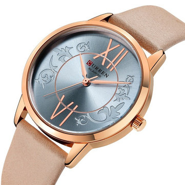 CURREN 9049 Analog Casual Style Women Wrist Watch Leather Band Quartz Watch