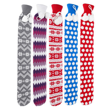 73cm U Shape Hot Water Bottle Bag Neck Warmer Heater With With Knitted Cover